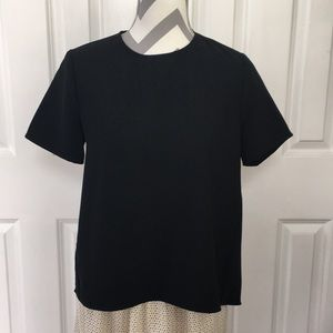 NWT Who What Wear Black Short Sleeve Top S